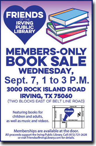 Friends of the Irving Library - Book Sales - Events